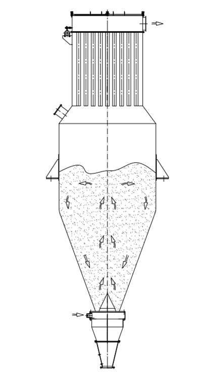 大容量气流混合机的原理图